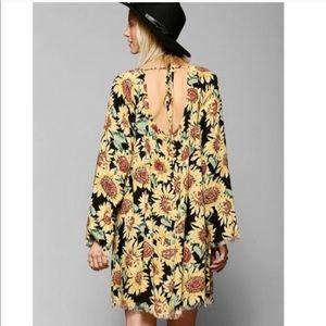 Sunflower boho dress